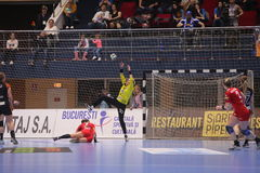 CSM Bucuresti - ` S EHF FRAUEN RK Krim Mercator verficht Liga Lizenzfreies Stockbild