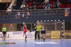 CSM Bucuresti - ` S EHF FRAUEN RK Krim Mercator verficht Liga Lizenzfreie Stockfotos