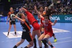CSM Bucuresti - ` S EHF FRAUEN RK Krim Mercator verficht Liga Lizenzfreie Stockfotografie