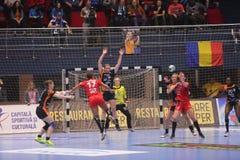 CSM Bucuresti - ` S EHF FRAUEN RK Krim Mercator verficht Liga Lizenzfreies Stockfoto