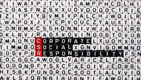 CSR公司的社会责任立方体 免版税库存图片