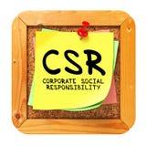 CSR. Żółty majcher na biuletynie. obrazy royalty free