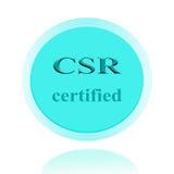 CSR аттестовал дизайн концепции значка или изображения символа с делом Стоковое фото RF
