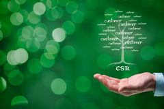 CSR concept. Corporate social responsibility (CSR) concept. Corporate conscience, corporate citizenship and sustainable responsible business Stock Photos