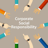 CSR corporate social responsibility company business help community. Vector Royalty Free Stock Photo