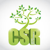 Csr corporate social responsibility tree Royalty Free Stock Images