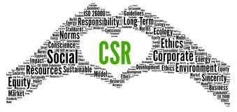 Free CSR, Corporate Social Responsibility Word Cloud Royalty Free Stock Photography - 169809477