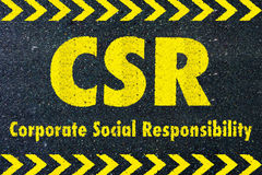 CSR - Corporate social responsibility word Royalty Free Stock Images