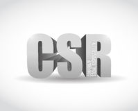 Csr 3d sign illustration design Stock Photo