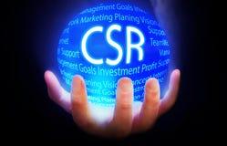 CSR kuli ziemskiej tła planu błękitny kolor Zdjęcia Stock