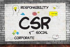 CSR och hållbarhet Respon för företags socialt ansvar royaltyfria bilder