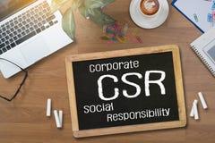 CSR och hållbarhet Respon för företags socialt ansvar royaltyfri foto