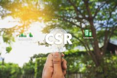 CSR och hållbarhet Responsib för företags socialt ansvar arkivfoto