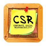 CSR. Yellow Sticker on Bulletin. Royalty Free Stock Images