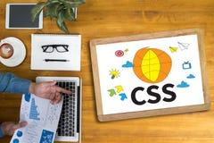 CSS网网上技术网络设计 免版税库存图片