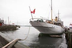CSS阿卡迪亚是第一艘船明确地被设计和被修造勘测Canada's北水; 图库摄影