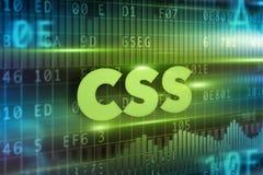 Css-begrepp Arkivfoto