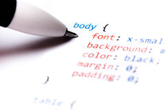 CSS Code Royalty Free Stock Images