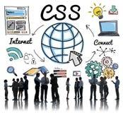 CSS Concept van het het Webontwerp van de Web het Online Technologie Royalty-vrije Stock Foto