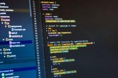 Css3 en editor de código Web que se convierte en la pantalla de ordenador foto de archivo libre de regalías