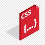 CSS file extension isometric icon Royalty Free Stock Photo