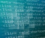 Css- och HTML-kod Arkivfoton
