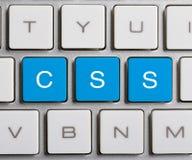 CSS op Toetsenbord Royalty-vrije Stock Afbeeldingen