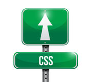 Css road sign illustration Royalty Free Stock Images