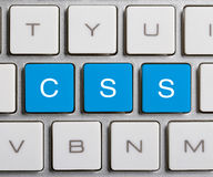 CSS sur le clavier Images libres de droits