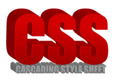 CSS text Royalty Free Stock Photo