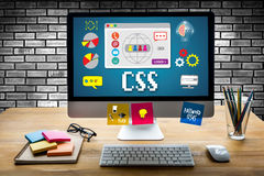 CSS Web Online Technology Web Design css cascading style sheet p Stock Images