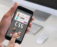 CSS Web Online Technology Web Design css cascading style sheet p Stock Photos