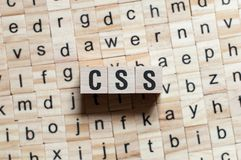 Css word concept royalty free stock images