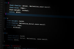 Css3 code web design code. Example css3 code web design code Royalty Free Stock Images