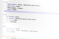 Css3 code web design code Royalty Free Stock Image
