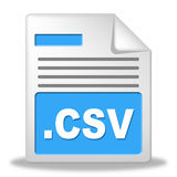 Csv File Represents Comma Seperated Values And Administration Stock Image