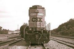 CSX befördern Maschine mit dem Zug Stockfotos