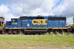 CSX Diesel Locomotive Royalty Free Stock Photography