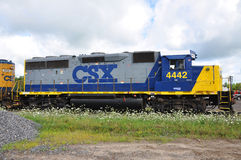 CSX Diesel Locomotive Royalty Free Stock Images