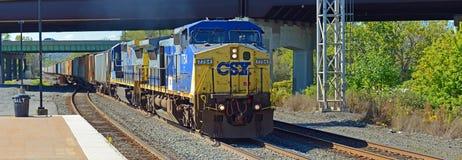 Free CSX Diesel Locomotive, Syracuse, New York, USA Royalty Free Stock Photo - 119050235