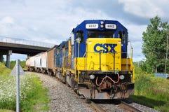 csx-diesellokomotiv royaltyfri foto