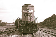 CSX Railroad le moteur Photos stock