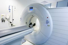 CT (Computed tomography) scanner in hospital Stock Photo