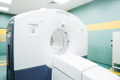 CT (computed tomography) scanner in an oncology hospital Royalty Free Stock Photos