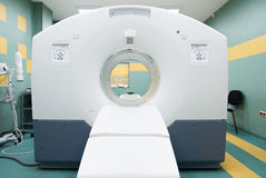 CT (computed tomography) scanner in an oncology hospital Stock Image