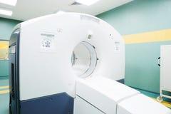 CT (gegevens verwerkte tomografie) scanner in het oncologieziekenhuis Royalty-vrije Stock Foto's