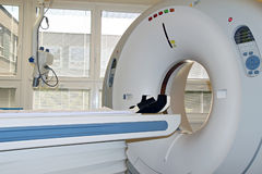 CT machine in the hospital room and windows Royalty Free Stock Images