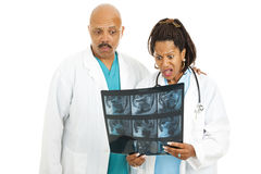CT Scan - Bad News Royalty Free Stock Image