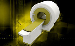 CT Scan Machine. Digital illustration of CT Scan Machine in coloured background stock image