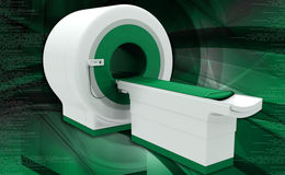 CT Scan Machine. Digital illustration of CT Scan Machine in coloured background royalty free illustration
